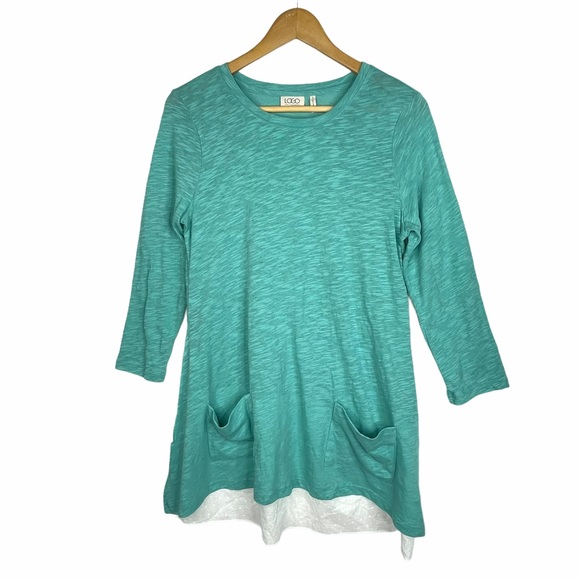 LOGO by Lori Goldstein Size S Tunic Top Pockets